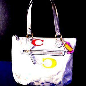 Coach Poppy Signature Tote Shoulder Bag #23521
